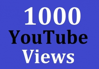 1000+ High Quality Views Non Drop Guarantee