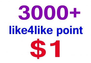 3000 like4like point only