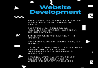 1 page website made in 1 hour