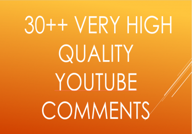 Easily get 30++ youtube custom comments  just in 20 hours