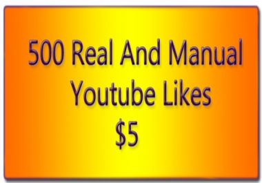 500 and Bonus 100 Youtube Likes Promotion of the Page in 72 hours offered