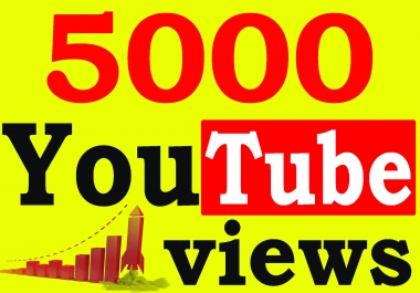 Fast 5000+ High Retention 90 To 100 percent You-Tube Views