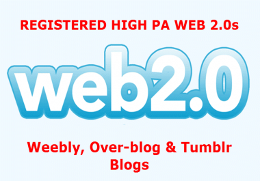 Provide Mixed - Blogspot, Weebly & Tumblr - Expired Web 2.0s
