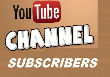 Super Fast 501+ Real Active YouTube Channel Subscribes