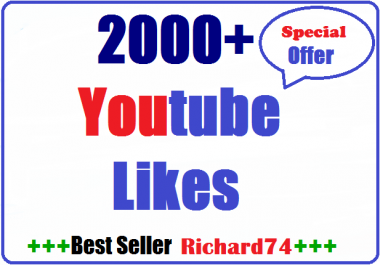 Non Drop 2000+ Youtube video  L-ikes very fast Instant start 24-36 hours complete