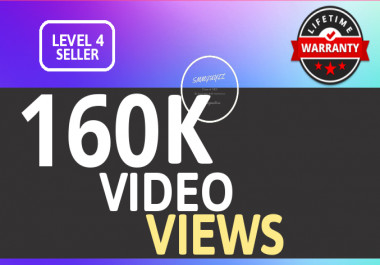 SUPER INSTANT 160000+ HQ WorldWide VIEWS FOR SOCIAL MEDIA POST