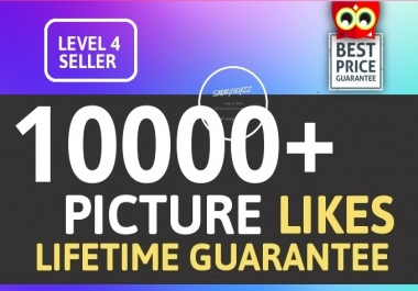 Instantly 10000+ Picture Likes Promotion High Quality