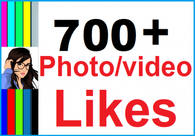 Instantly 700+ Likes In Pic Social Media Instant Start & High Quality