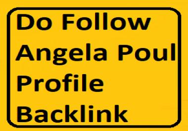Manually Do 25+ PR9 to PR6 Angela Poul Profile Backlinks For website/blog/youtube video