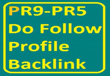Bump Google Ranking - 10 PR9 to PR5 Do Follow Profile Backlinks For website/blog/youtube video