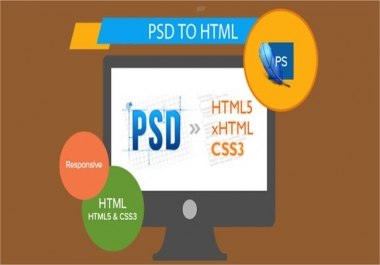 convert psd to html Templete