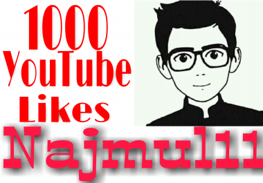 I provide 1000 high quality YouTube likes on your video  non drop super fast in 2-4 hours