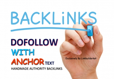 30 Authority SEO Backlinks - Dofollow With Anchor Text