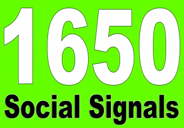 Powerfully built 1650 Social Shares Signals to heavy SEO help, Best on seoclerks