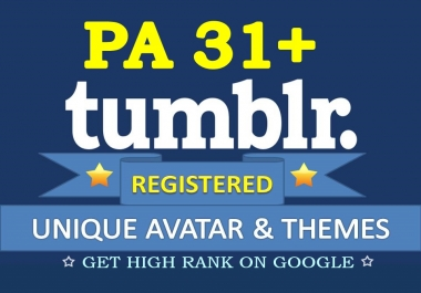 Find and Register 20 Expired Tumblr PA 30 plus