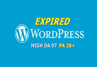 Provide 10 Expired Wordpress PA 28
