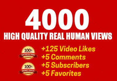 Fast 4500 Youtube vi-ew or 1000 youtube like only