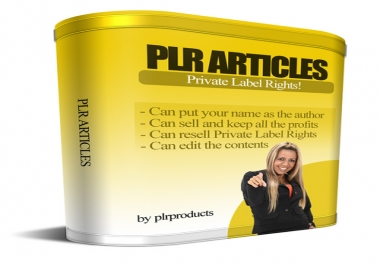Massive 200,000 PLR Articles Collection