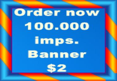 100.000 Banner impressions