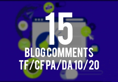 High trust flow and da 15 blog comments