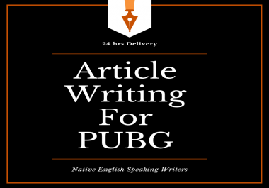 500 words article writing on PUBG related topics