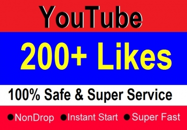 200+ Youtube Video Likes Superfast Delivery