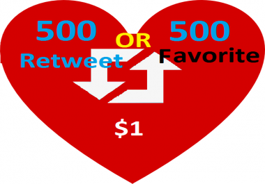 Get instant start 8000 follower or 8000 retweet or 8000 favorite for your post