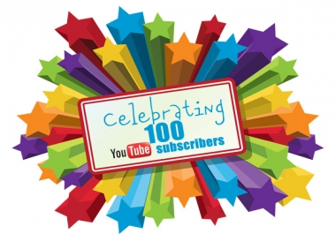 give 100 YouTube subscribers for your channel all real and this is a great way to promote your youtube videos