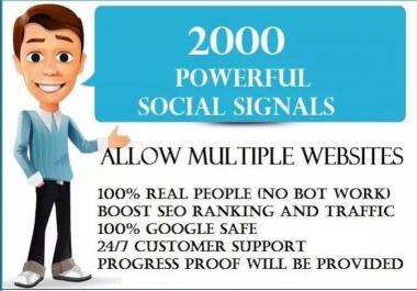 2,000 PR9 Social Signals Monster Pack from the BEST Social Media website