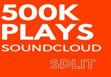 500,000 SoundCloud Plays