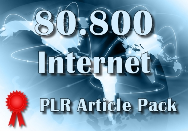80830 INTERNET Plr Article Collection Pack