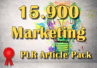15900 MARKETING Plr Article Collection Pack