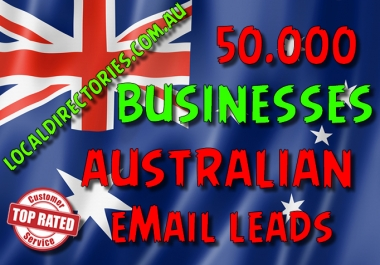50000 Australian BUSINESSES leads
