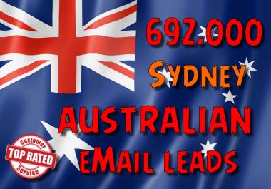 692000 Australian SYDNEY leads