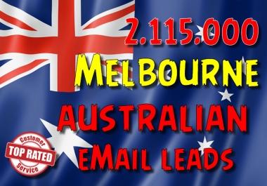 2115000 Australian MELBOURNE leads