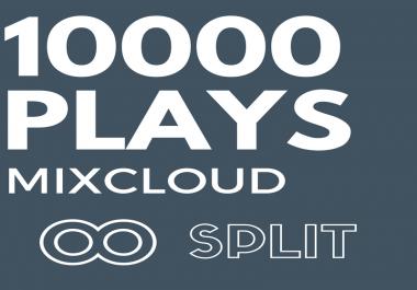 10,000 MixCloud Plays