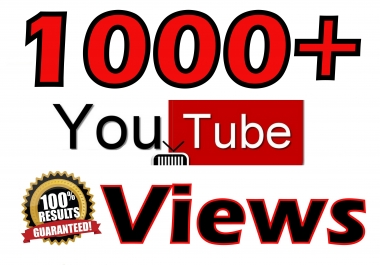 1000-1500 HR Views Safe & Fast Video Promotion