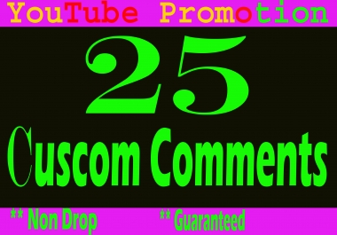 Mini Offer Real 40 YouTUbe Custom Comments
