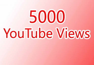 Get 5000 High Quality Views Refill Guarantee Fast Delivery
