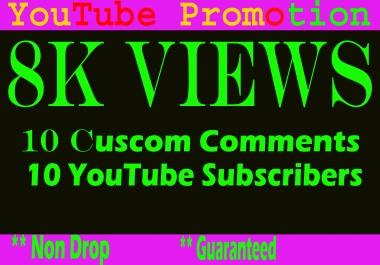 Guarantee and safe 8k or 8000 YouTube vieews
