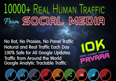 Drive 10000+ Human Web Traffic from Social Media