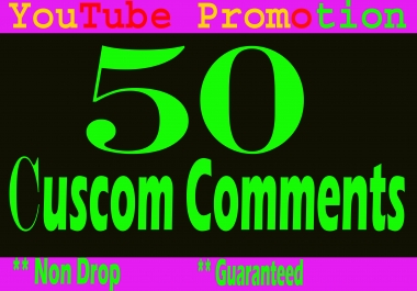 Special offer Real 50 YouTube Custom Comments + 50 Subscribers