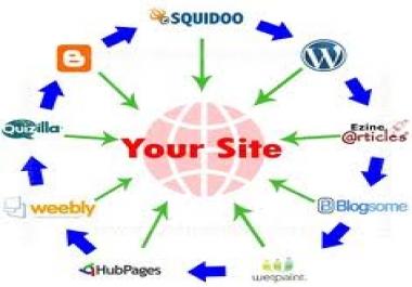 RANK BOOSTER. Manually Blog 50 Backlinks, 15 Web 2.0, 100 PR8-PR3 Link Wheel & 2250 Social Bookmarking