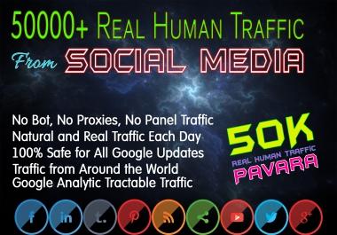 Drive 50000+ Human Web Traffic from Social Media