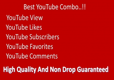 Super Fast Youtube 5000-6000 views 50 likes 20 subscribers 20 favourites and 5 comments2
