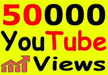 Get 50,000+ You-Tube Vie'ws & Bonus Lik'es with High Retention lifetime guarantee