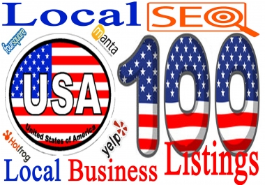 Do Manually 100 Live USA Local Business Citations for Local SEO. I always ensure best quality work.