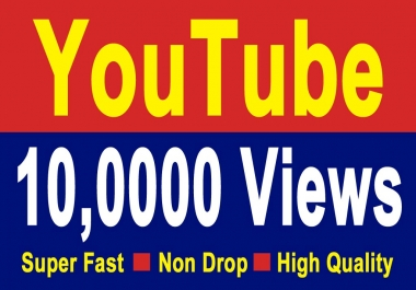 10,000 YT  views Non Drop