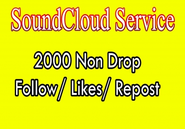 Best offer, Get High Quality  2000 S0undcloud F0llowers or L!kes or Re-post