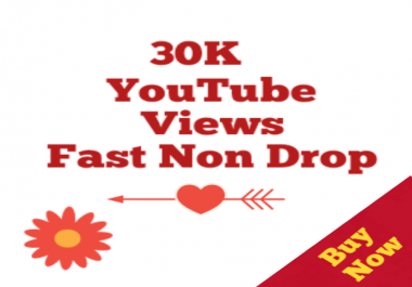 20,000 to 30,000 Or 20K to 30K High quality Vieews Non drop 24/48 hrs  very fast